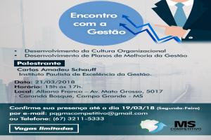 MS Competitivo terá palestra sobre cultura organizacional